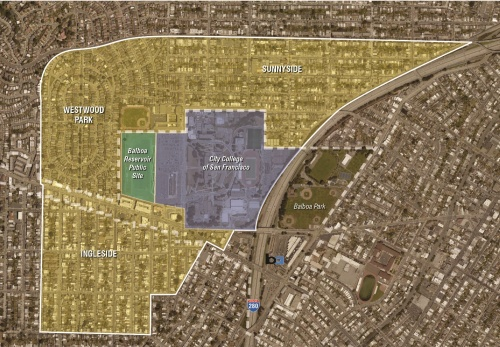 Area impacted by Balboa Reservoir Project. Image: sf-planning.org