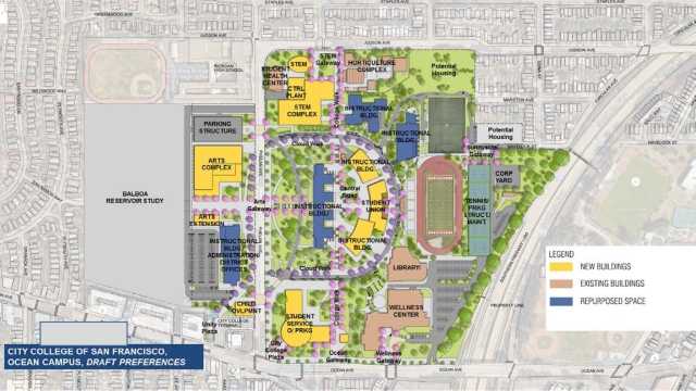 Preferred draft for Facilities Master Plan, late 2016.