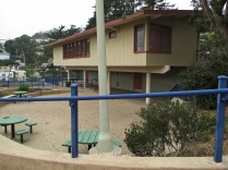 The Sunnyside Playground Clubhouse, built in 1972, and refurbished ten years ago. 2017 Photo: Sunnyside Neighborhood Association.