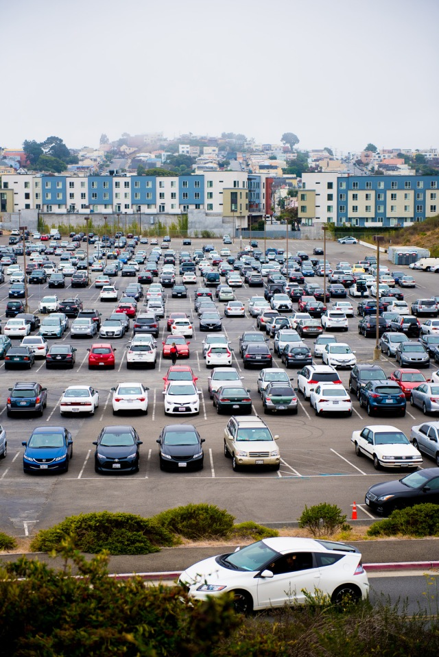 Lower parking lot (Balboa Reservoir) at 11:30. Taken Aug 28 2017 by Otto Pippenger.