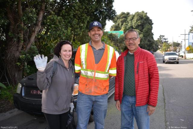 Right to left: Supervisor Norman Yee, SNA President Stephen Martinpinto, and Erica Maybaum, aide to Supervisor Yee. Photo: Bill Wilson Photography.