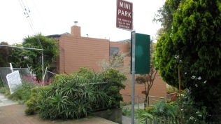 Joost-Baden Mini-Park, from Mangels Ave near 149 Mangels. Photo: Sunnyside Neighborhood Association.