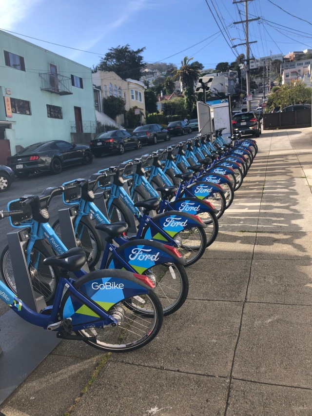 GoBike Station, Gennessee St. at Monterey Blvd, Sunnyside. Photo: Kenneth Hollenbeck