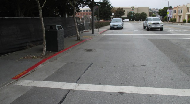 Daylighting on south side of Judson Avenue at Gennessee Street. Photo: Sunnyside Neighborhood Association.