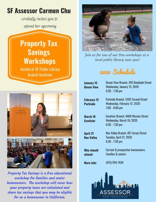 2020 Library workshop series flyer