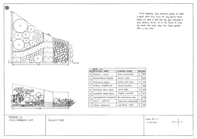 Winning design by Josie Li of Thomas Wang's Landscape Design class at City College of San Francisco.